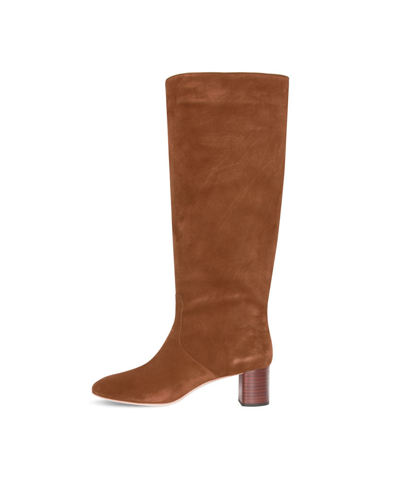Gia Almond Toe Mid Heel Tall Boot