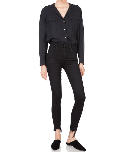 Ansley Silk Shirt True Black
