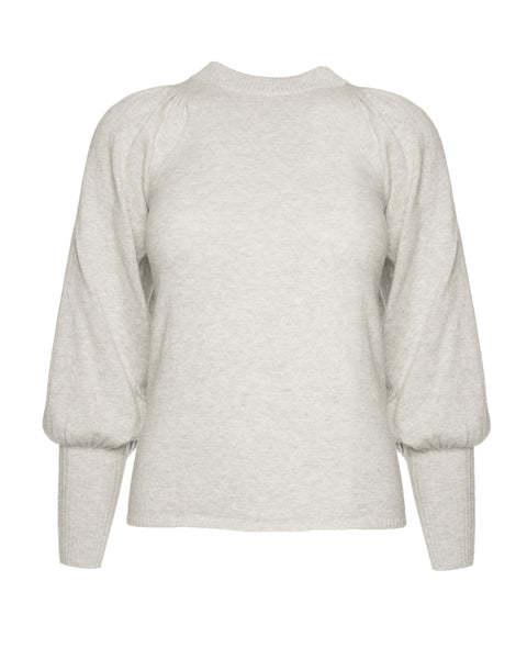 Dewi Puff Sleeve Crewneck-Cloud