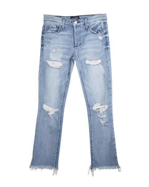 Brooklyn Boy Crop Distressed Jean Alcatraz Blues