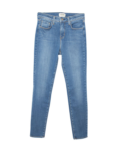 Margot High Rise Crop Jean in Light Vintage