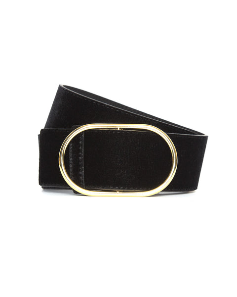Oval Ring Belt-Noir