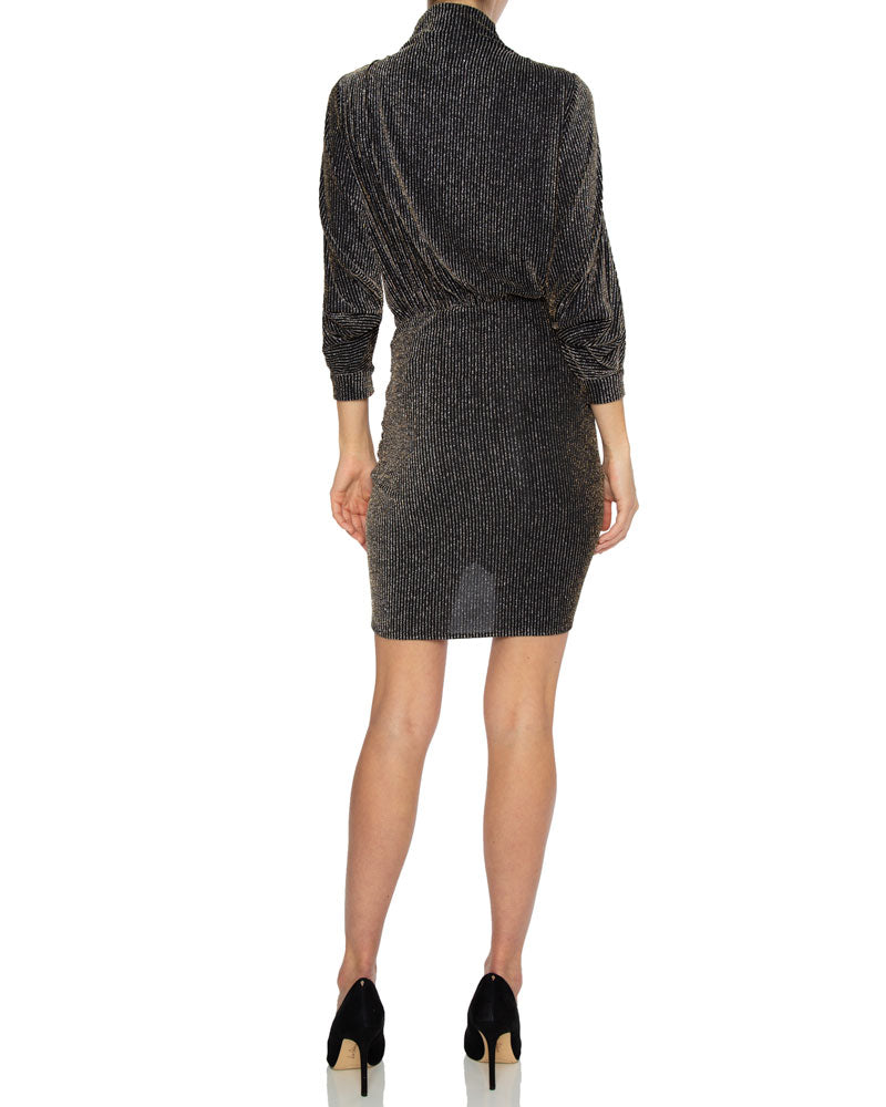 Absalon Mock Neck Mini Dress