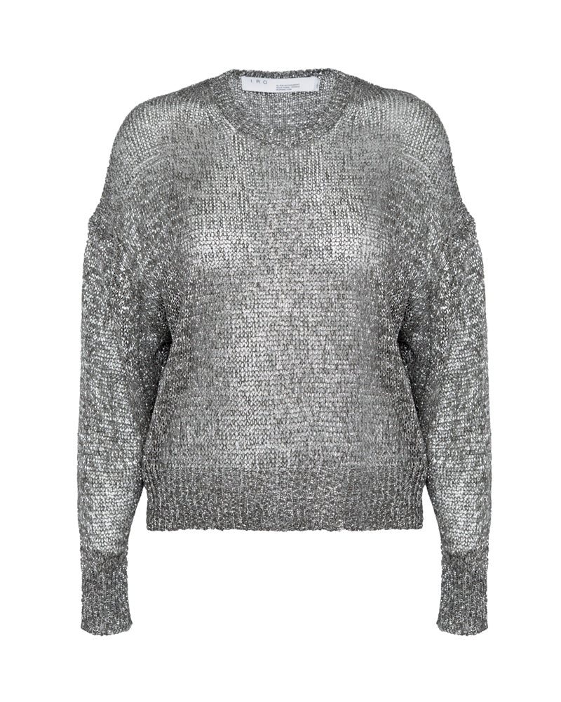Dokis Metallic Oversized Sweater