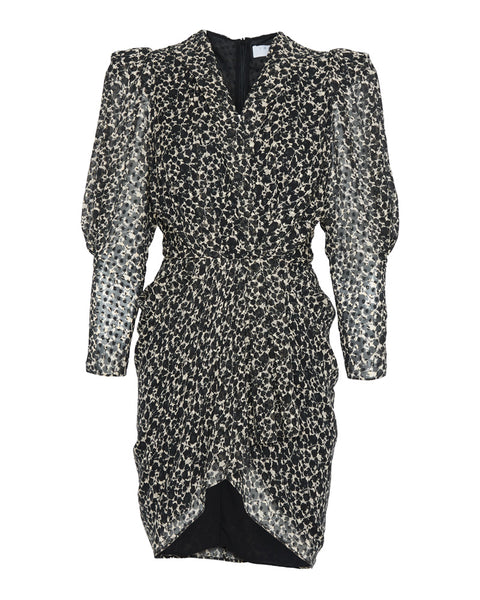 Victoria Printed Puff Sleeve Mini Dress