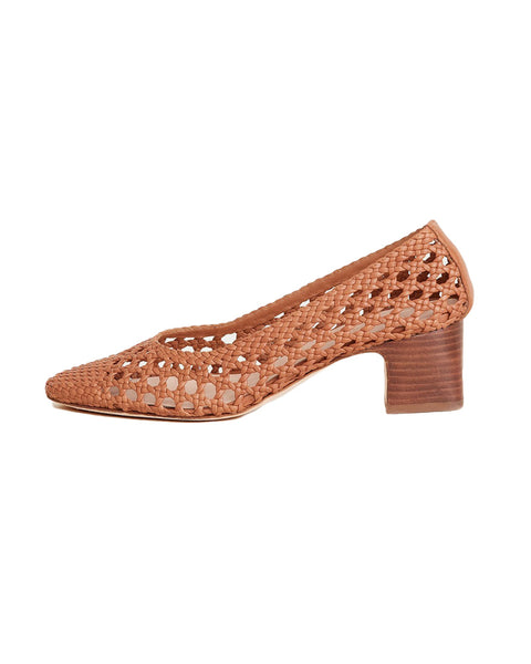 Imogene Woven Leather Pump