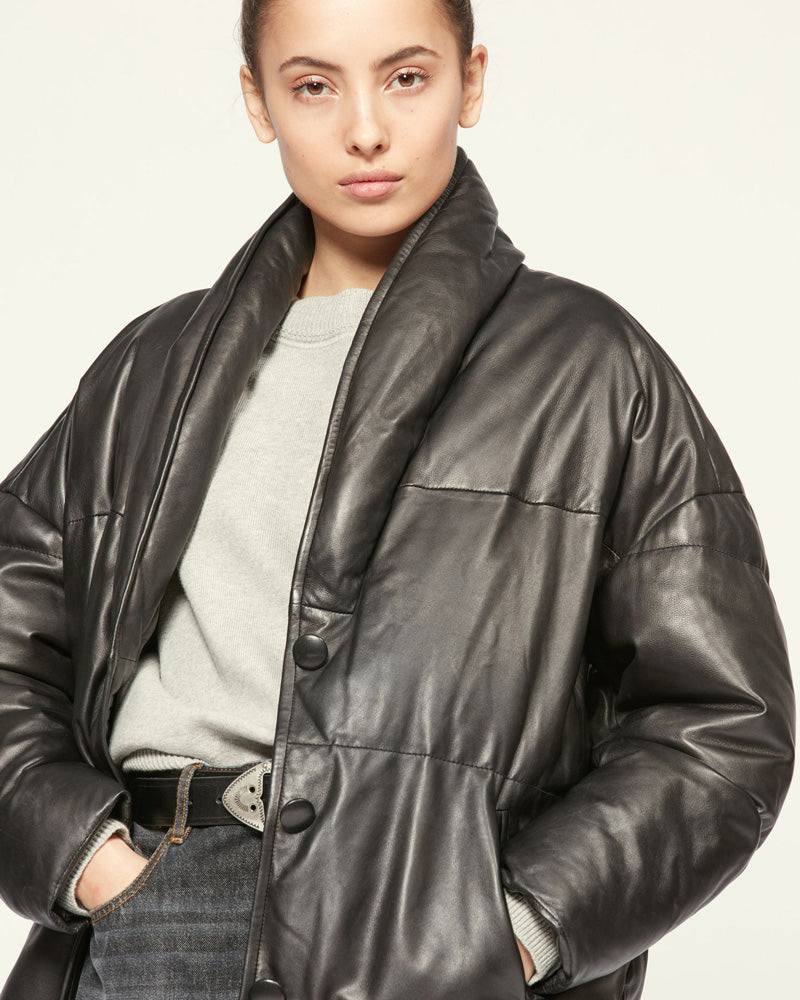 Carterae Leather Coat