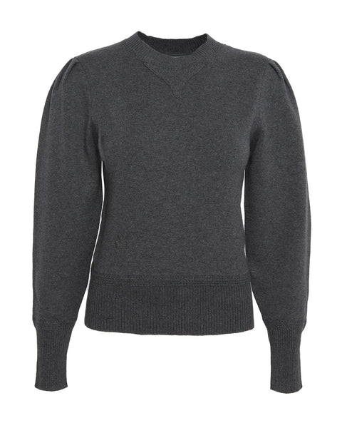 Kelaya Crew Neck Puff Sleeve Sweater