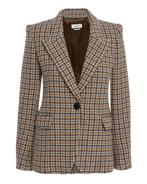 Kerstin Checked Wool Blazer