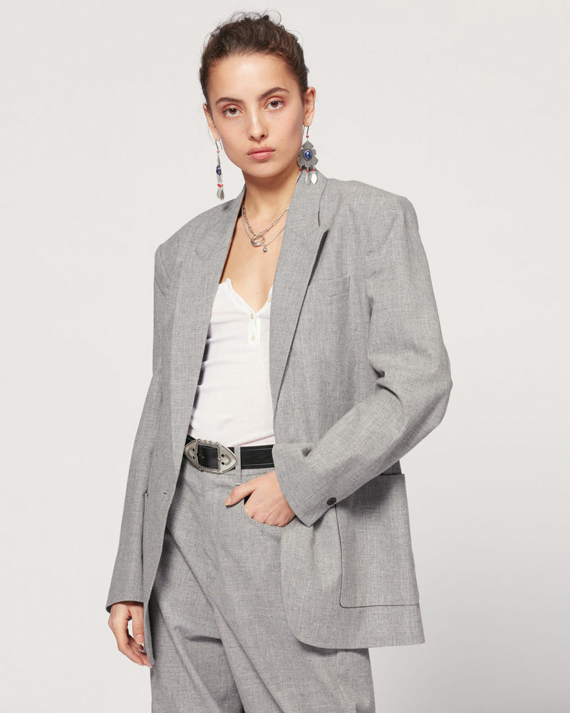 Linda Jacket in Light Grey
