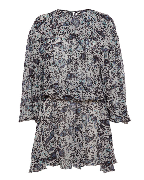 Nimazu Paisley Blouson Dress