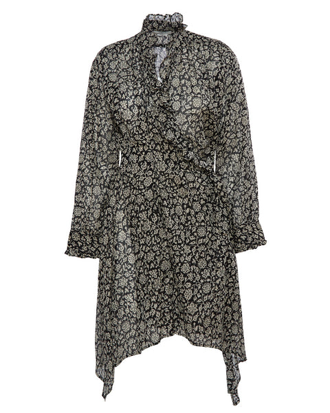 Pamela Printed Wrap Dress