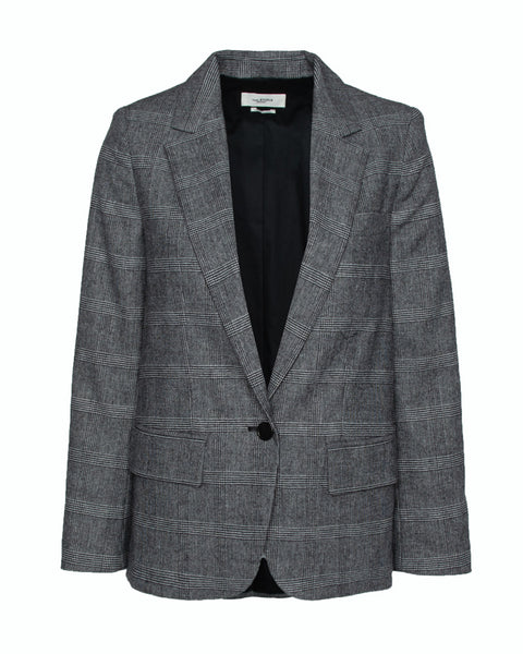 Kice Checked Wool Blend Boucle Blazer