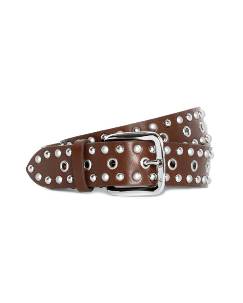 Rica Studded Leather Belt