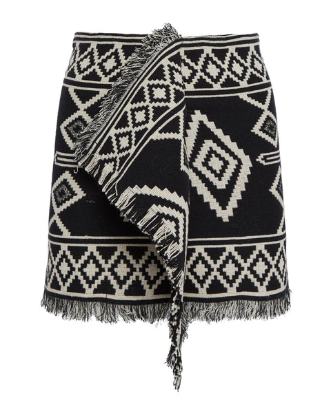 Jiloa Boho Pattern Ruffle Mini Skirt