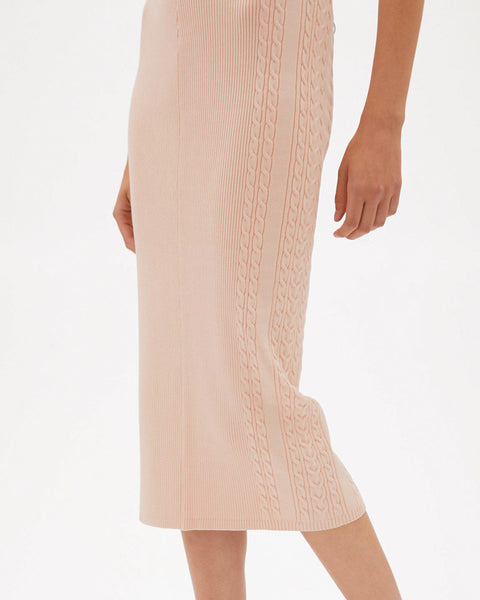 Greer Compact Rib Pencil Skirt