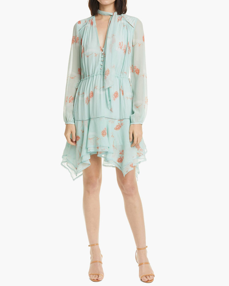 Irena Rose Silk Mini Dress