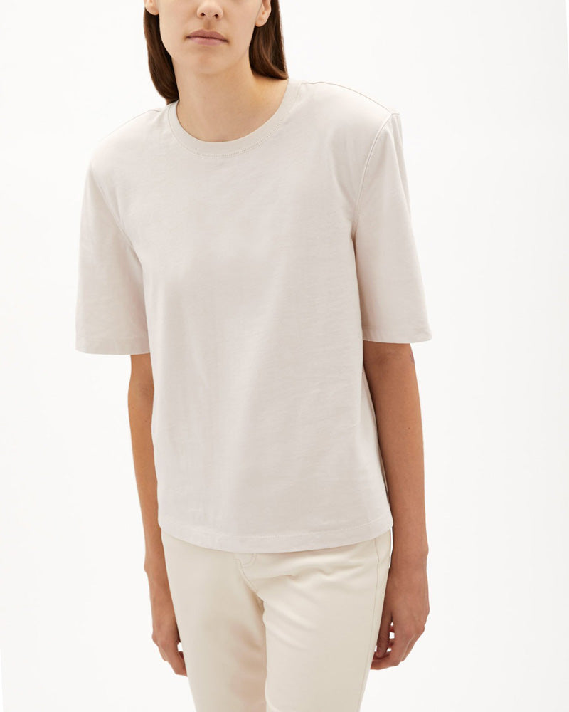 Kyler Organic Cotton Jersey Shoulder Pad Tee