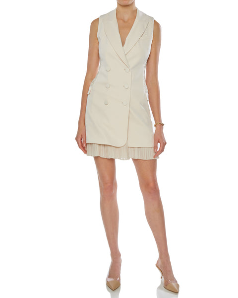 Lucy Sleeveless Double Breasted Blazer Dress