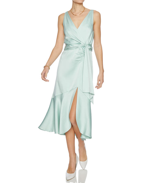 Mia Fluid Satin Midi Dress