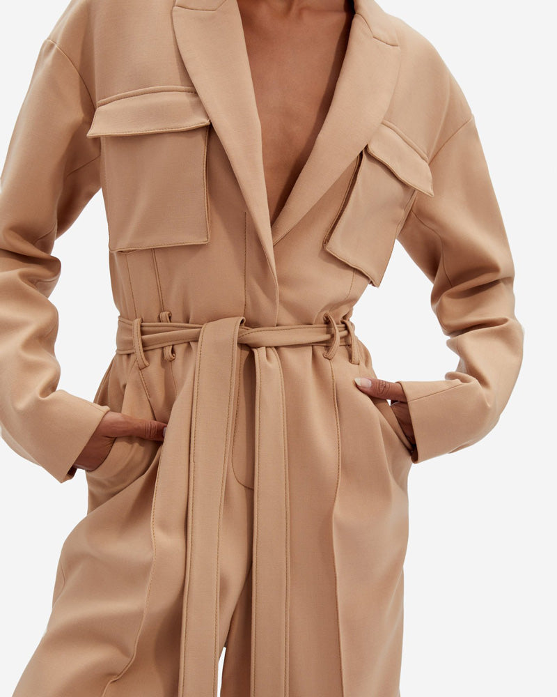 Millie Mixed Wool Tailoring Romper