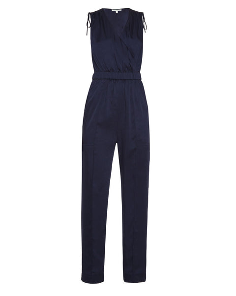Nora Textured Satin Jumpsuit
