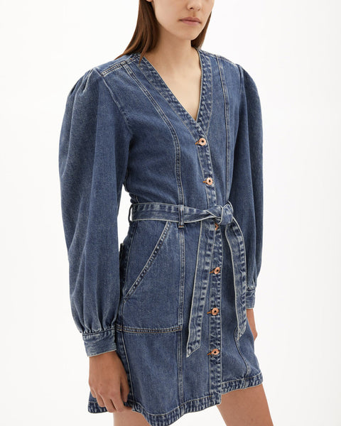 Sasha Belted Mini Denim Dress