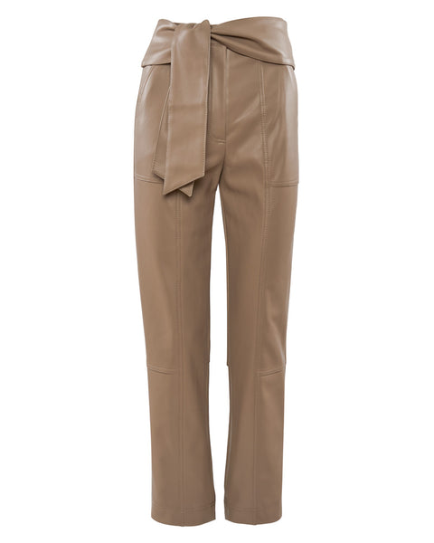 Tessa Vegan Leather Tie Waist Pant