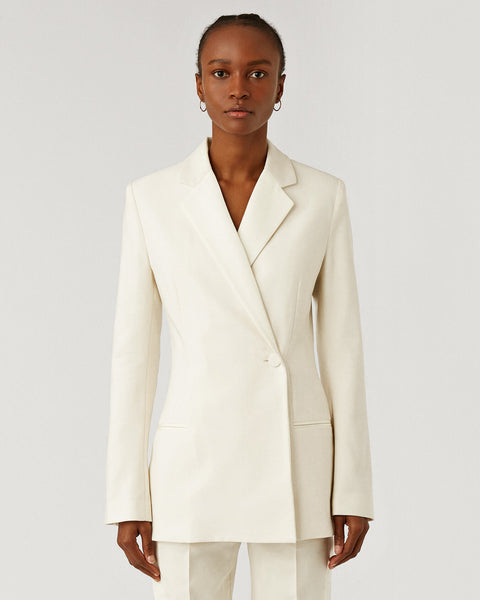 Joplin Wool Silk Tux Jacket