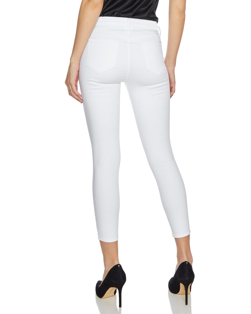 Margot High Rise Skinny Jeans in Blanc