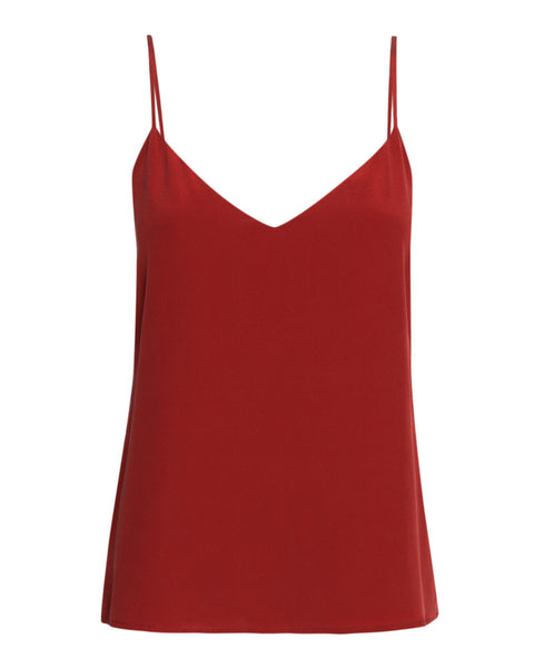 Jane Spaghetti Strap Top in Redstone