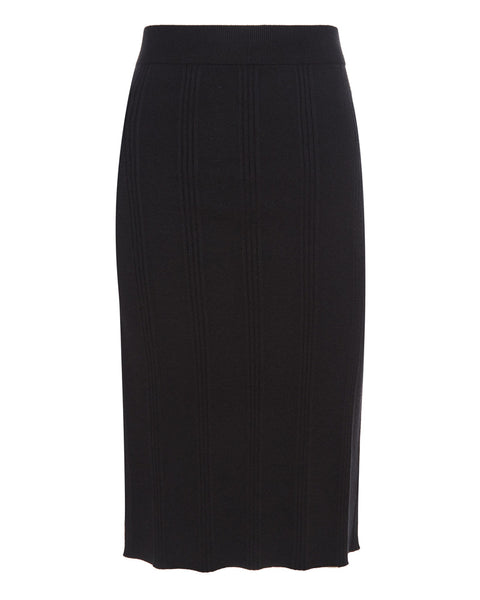 Jessica Knit Midi Skirt in Black