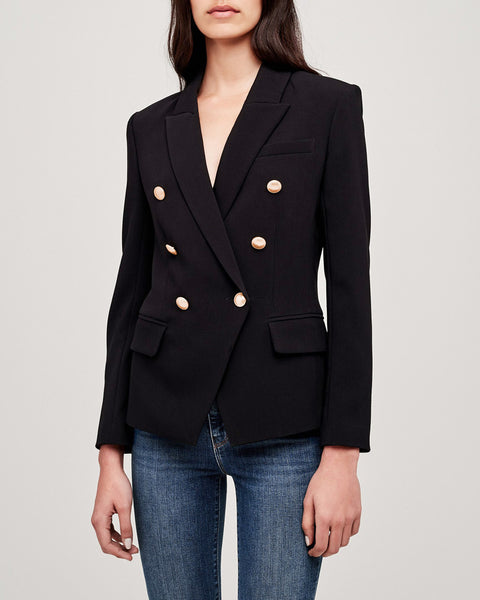 Kenzie Double Breasted Blazer in Black