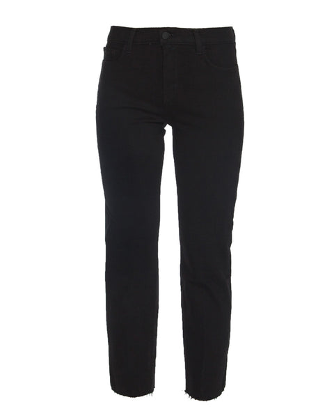 Sada High Rise Crop Slim Jeans in Black