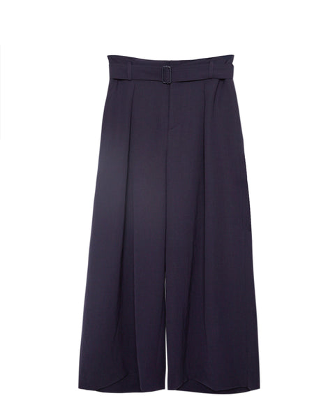 Belted Culotte in Navy