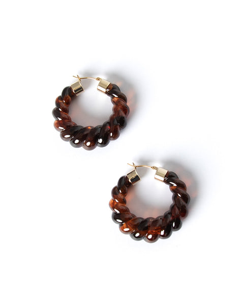 Janis Resin Hoop Earrings