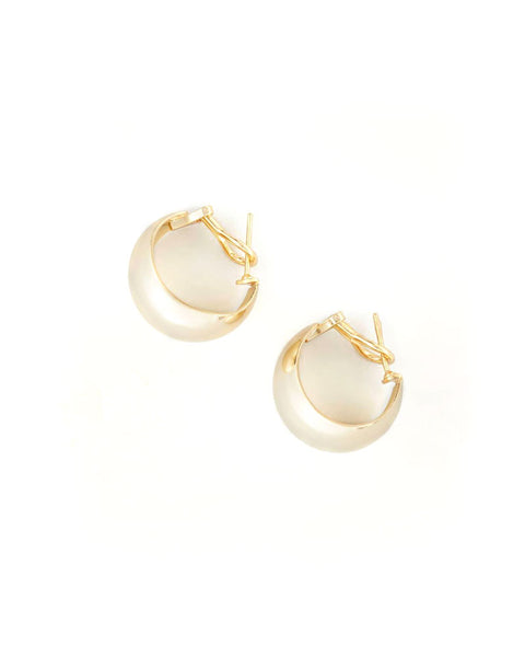 Sharon Curve Mini Hoop Earrings - 25% OFF TRAVEL EDIT