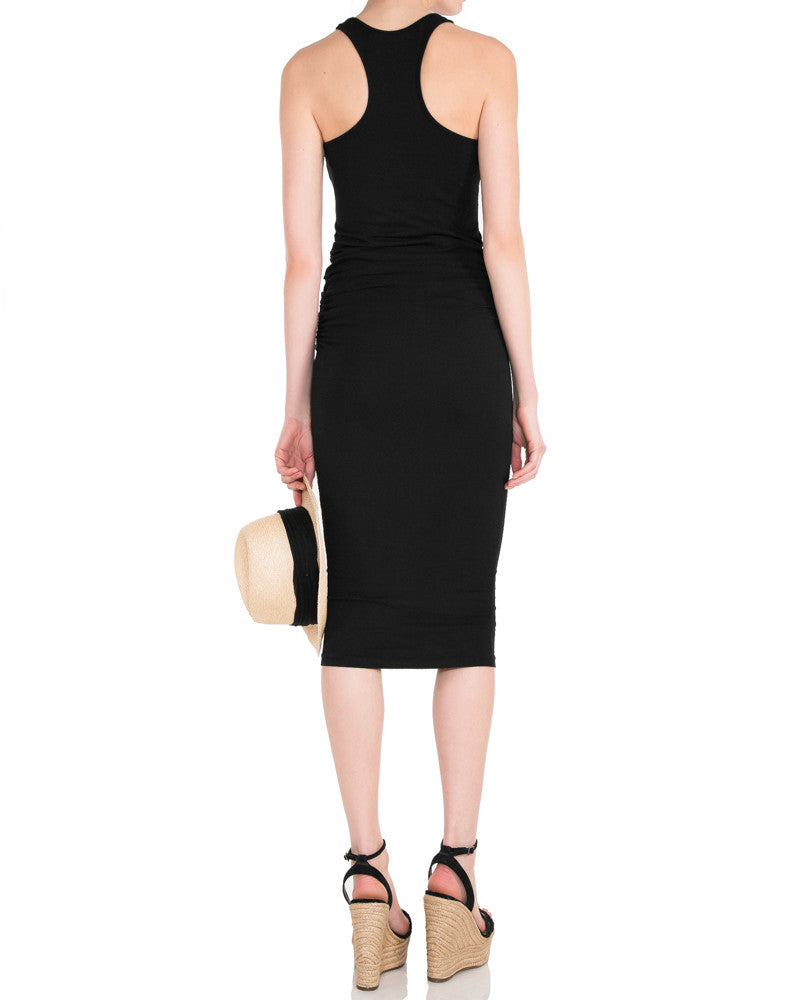 Racerback Midi Dress-Black