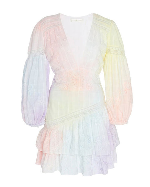 Abitha Ruffled Cotton Mini Dress
