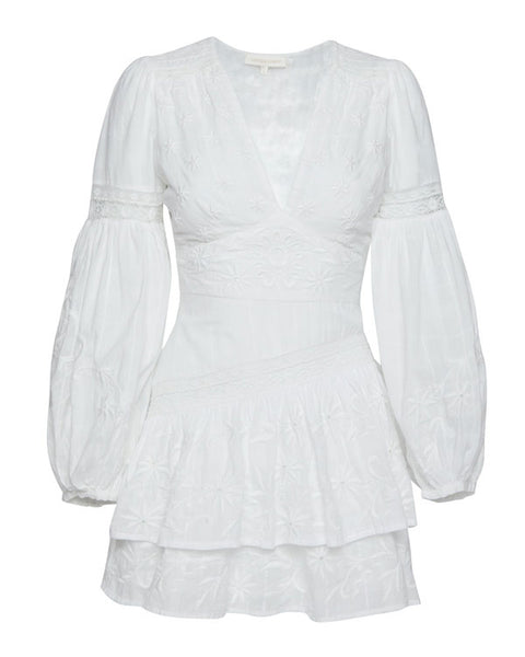 Abitha Embroidered Mini Dress