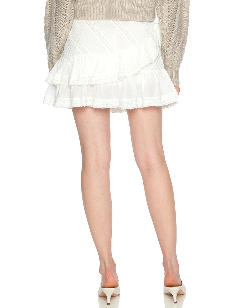 Emma Tiered Ruffle Mini Skirt