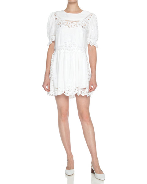 Julie Embroidered Eyelet Mini Dress