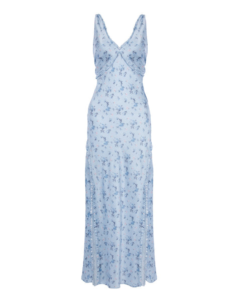 Kendall Silk Floral Maxi Dress