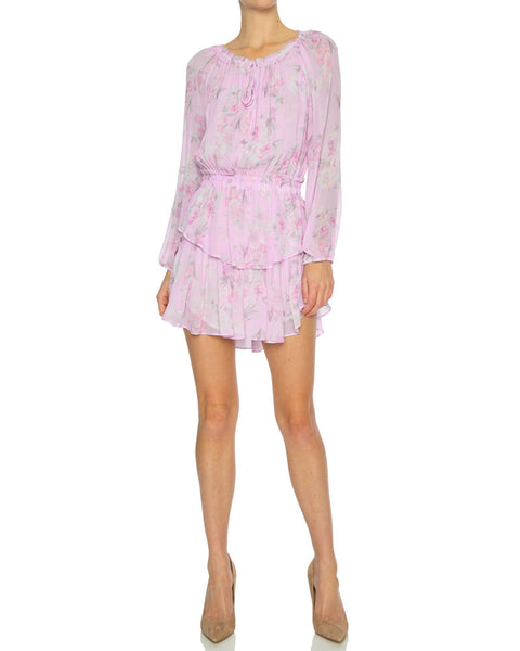 Popover Mini Dress in Hibiscus