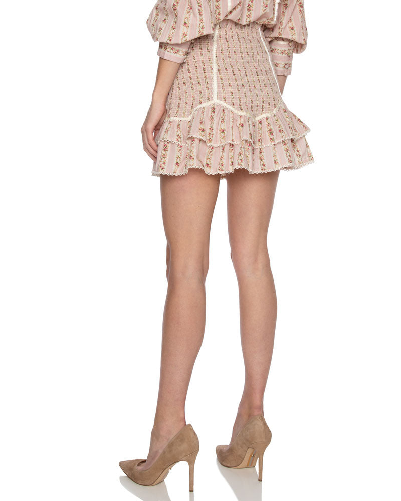 Raina Lace Trimmed Mini Skirt