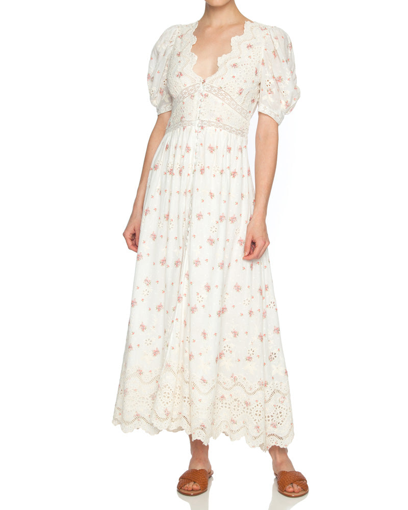 Stacy Broderie Maxi Dress