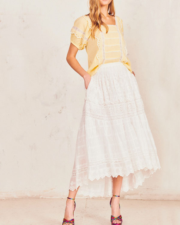 Zinnia Embroidered Skirt
