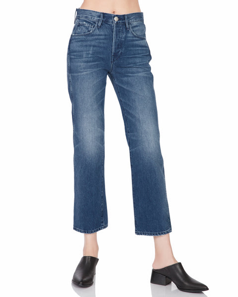 Shelter Austin Crop High Rise Jean in Malone