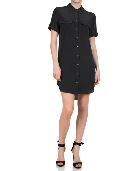Short Sleeve Slim Signature Dress