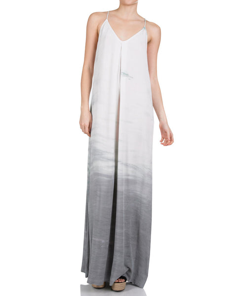 Maxi Slip Dress-Silver Fox